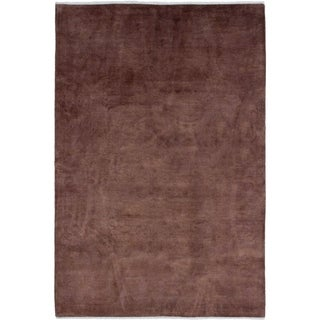 ECARPETGALLERY  Hand-knotted Color transition Brown Wool Rug - 6'0 x 9'0