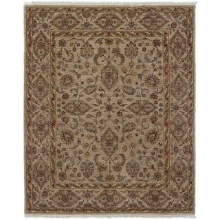 ECARPETGALLERY  Hand-knotted Chobi Twisted Tan Wool Rug - 8'0 x 9'11