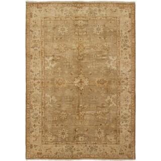 ECARPETGALLERY  Hand-knotted Chobi Finest Tan Wool Rug - 6'2 x 9'0