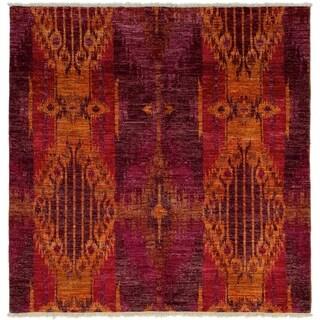 ECARPETGALLERY  Hand-knotted Shalimar Burgundy Wool Rug - 5'9 x 5'11