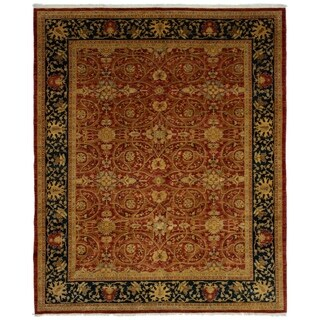 ECARPETGALLERY Hand-knotted Chobi Twisted Dark Copper Wool Rug - 8'2 x 10'6