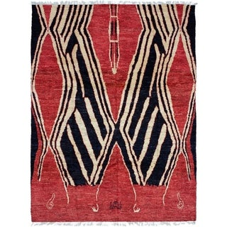ECARPETGALLERY  Hand-knotted Tangier Dark Copper Wool Rug - 7'11 x 10'3