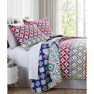 Spirit Linen Home Premium Collection Printed Quilt Set (3 Piece)