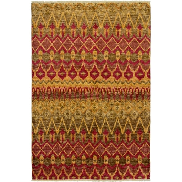 ECARPETGALLERY Hand-knotted Shalimar Red Wool Rug - 6'0 x 9'2