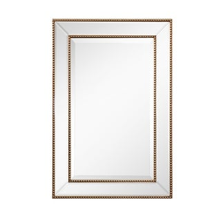 Rectangle Beveled Glass Beaded Mirror
