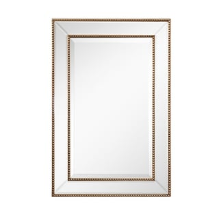 Rectangle Beveled Glass Beaded Mirror