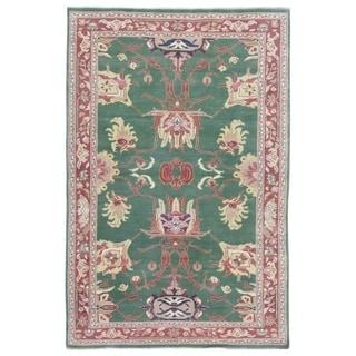 "Handmade Fine Peshawar Oriental Rug - 4' x 6'1"""