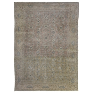 "Handmade One-of-A-Kind Oushak Oriental Area Rug - 10' x 13'4"""