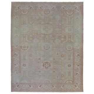"Handmade One-of-A-Kind Oushak Oriental Area Rug - 9'4"" x 11'7"""