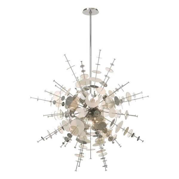 "Livex Lighting Circulo 12-Light Grand Foyer Pendant Chandelier - 50""Dia. x 58""-122""Adj. H - 50""Dia. x 58""-122""Adj. H. Opens flyout."