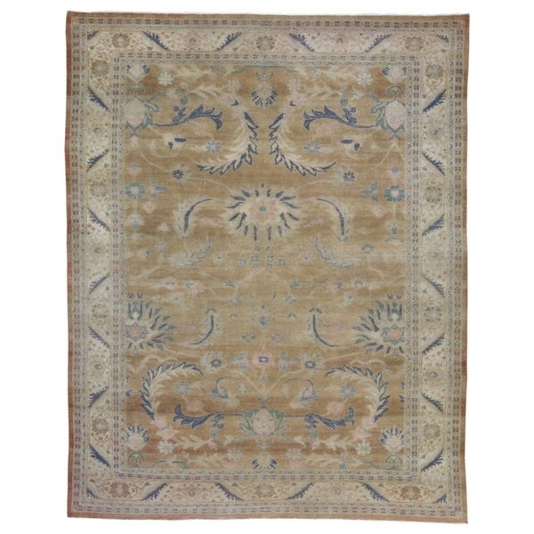 """Hand-knotted Mahal Wool Oriental Area Rug - 7'10"""" x 9'9"""""""