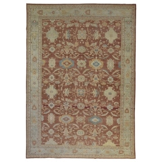 "Handmade One-of-A-Kind Oushak Oriental Area Rug - 9'8"" x 13'4"""