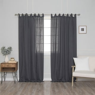 Link to Aurora Home French Linen Romantic Tie Top Sinlge Curtain Panel Similar Items in Window Treatments