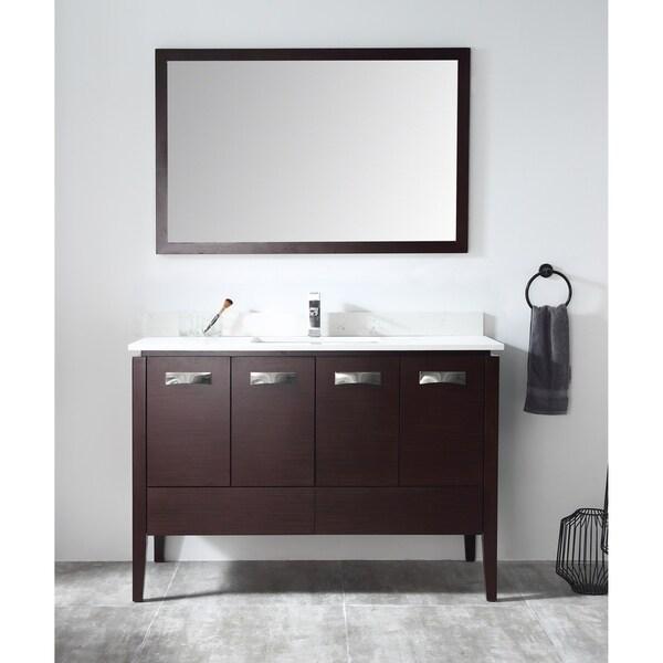 "48"" Tennant Brand Adagio Espresso Bathroom Vanity with Mirror"