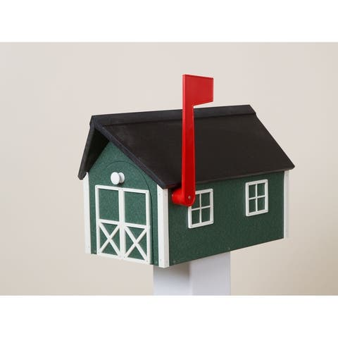 Green & White Poly Lumber Mailbox
