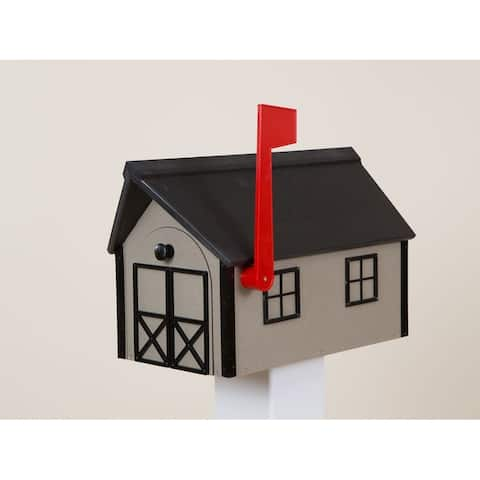 Clay and Black Poly Lumber Mailbox