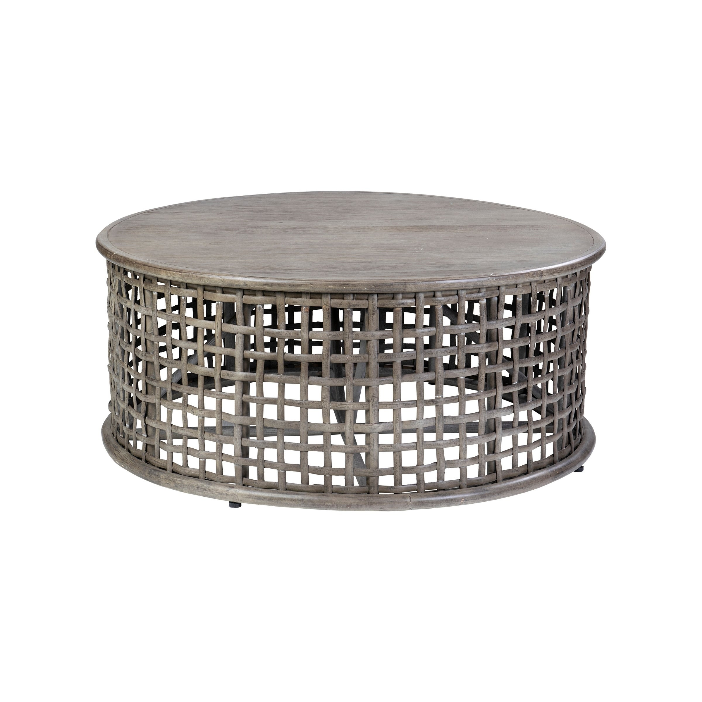 - Shop East At Main's Josephine Rattan Round Coffee Table