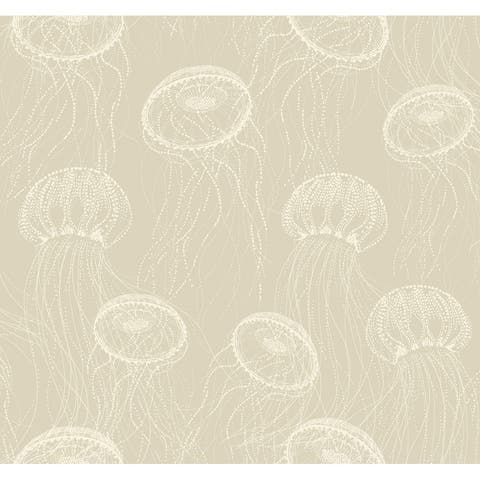 Atolla Wallpaper, 27 in. x 27 ft. = 60.75 sq.ft., in Beiges