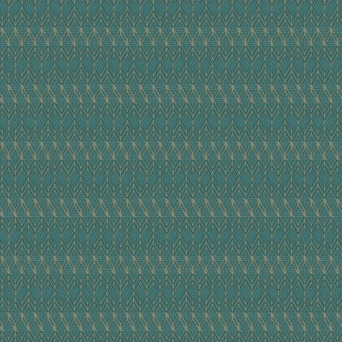 Art Deco Geometric Wallpaper, 20.5 in. x 33 ft. = 56 sq.ft, in Green