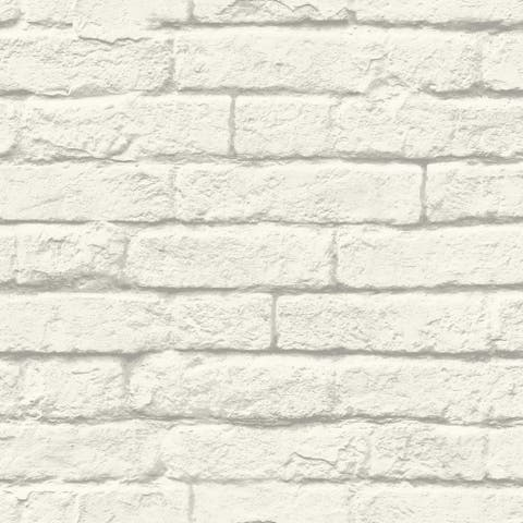 Brick and Mortar Removable Wallpaper, 20.5 in x 33 ft - 20.5 in. x 33 ft. = 56 sq.ft