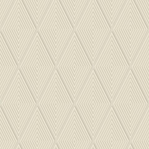 Conduit Diamond Wallpaper, 20.5 in. x 33 ft. = 56 sq.ft, in Tan