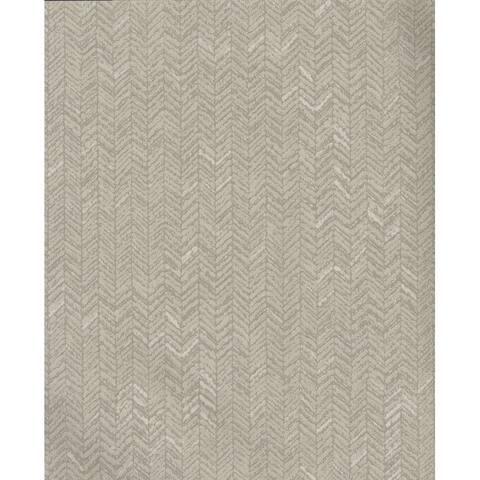 Fabric Chevron Wallpaper, 20.8 in. x 32.8 ft. - 20.8 in. x 32.8 ft. = 56.9 sq.ft,