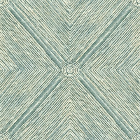 Dimensional Diamond Wallpaper, 20.5 in. x 33 ft. = 56 sq.ft, in Blues