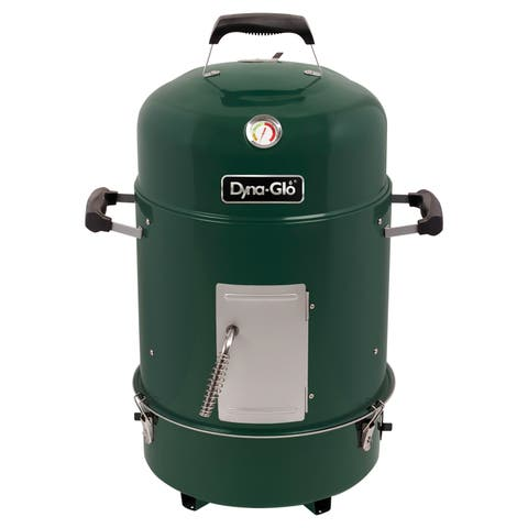 Dyna-Glo Compact Charcoal Bullet Smoker - High Gloss Forest Green