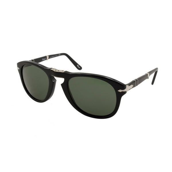 3d27159bab1 Shop Persol Black Grey Polarized Folding Men Sunglasses - On Sale - Free  Shipping Today - Overstock - 26036301