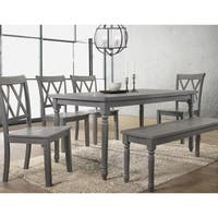 Best Master Furniture Rustic Rectangular Dining Table