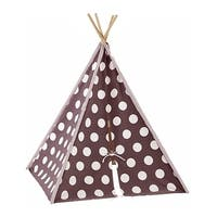 Modern Home Children's Canvas Tepee Set with Travel Case