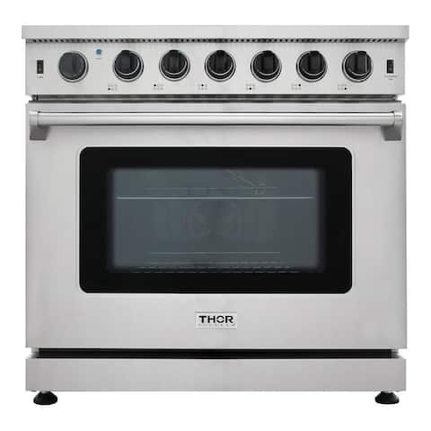 "Thor Kitchen - 36"" Professional Gas Range in Stainless Steel"