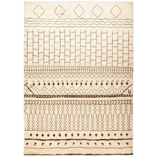 "Moroccan, Hand Knotted Area Rug - 6' 3"" x 8' 10"" - 6'3"" x 8'10"""