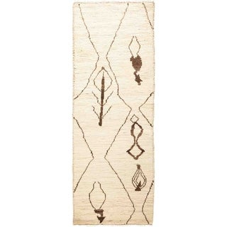 "Moroccan, Hand Knotted Area Rug - 2' 0"" x 5' 10"" - 2' x 5'10"" Runner"