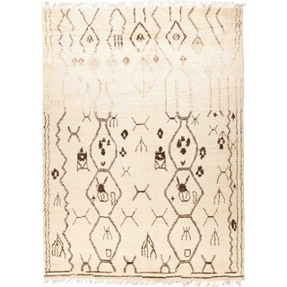 "Moroccan, Hand Knotted Area Rug - 8' 1"" x 10' 5"" - 8'1"" x 10'5"""