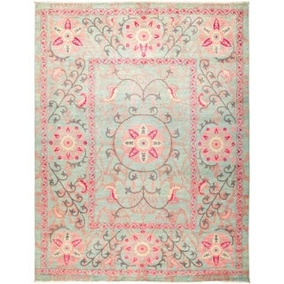 "Suzani, Hand Knotted Area Rug - 9' 1"" x 11' 10"" - 9'1"" x 11'10"""