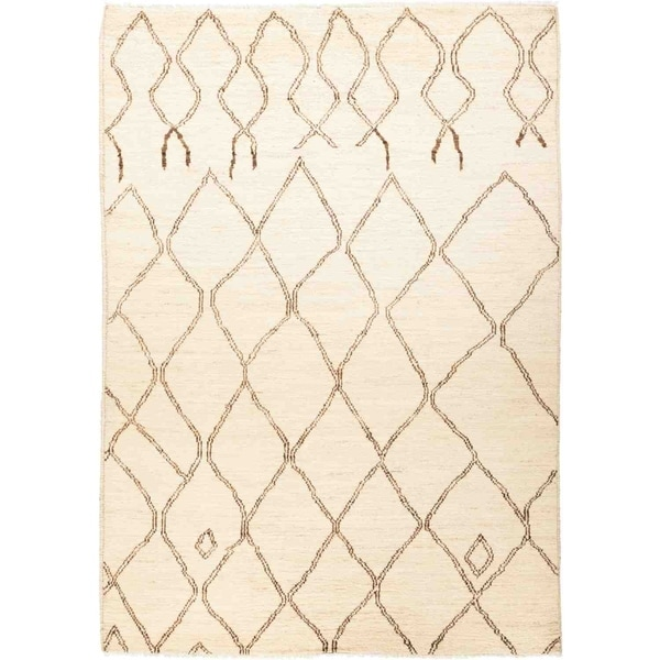"Moroccan, Hand Knotted Area Rug - 6' 0"" x 8' 7"" - 6' x 8'7"""