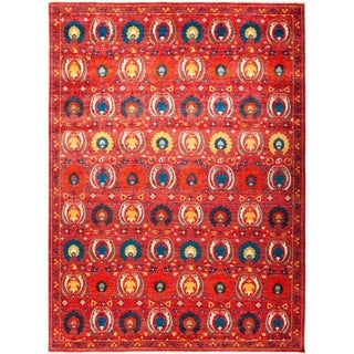 """Suzani, Hand Knotted Area Rug - 10' 2"""" x 13' 10"""" - 10'2"""" x 13'10"""""""