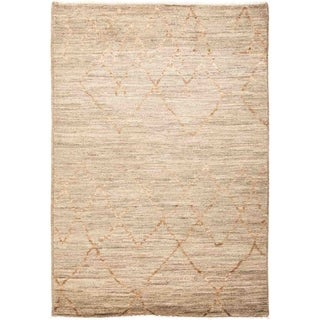 """Moroccan, Hand Knotted Area Rug - 4' 3"""" x 6' 1"""" - 4'3"""" x 6'1"""""""