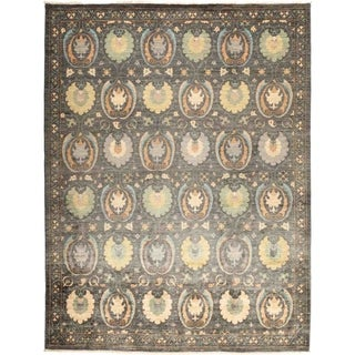 """Suzani, Hand Knotted Area Rug - 8' 4"""" x 10' 3"""" - 8'4"""" x 10'3"""""""