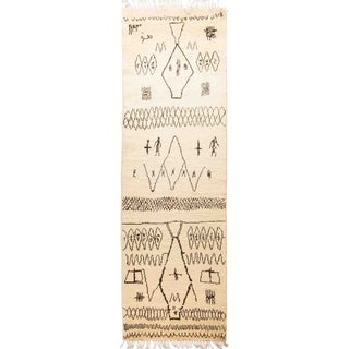 """Moroccan, Hand Knotted Area Rug - 3' 0"""" x 9' 8"""" - 3' x 9'8"""" Runner"""