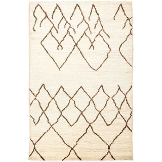 """Moroccan, Hand Knotted Area Rug - 3' 10"""" x 6' 1"""" - 3'10"""" x 6'1"""""""