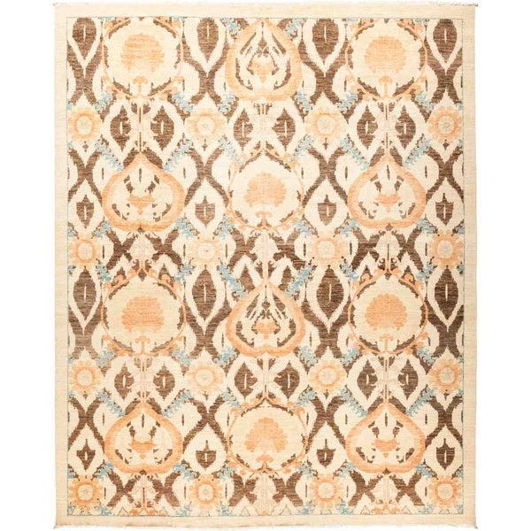 "Suzani, Hand Knotted Area Rug - 9' 0"" x 11' 2"" - 9' x 11'2"""