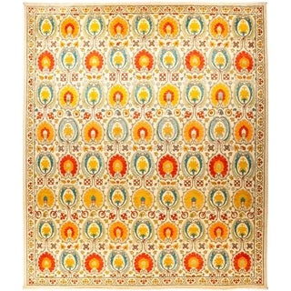 "Suzani, Hand Knotted Area Rug - 12' 1"" x 14' 5"" - 12'1"" x 14'5"""