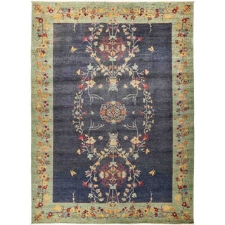 """Suzani, Hand Knotted Area Rug - 10' 1"""" x 13' 6"""" - 10'1"""" x 13'6"""""""
