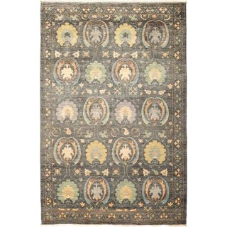 """Suzani, Hand Knotted Area Rug - 5' 1"""" x 7' 10"""" - 5'1"""" x 7'10"""""""