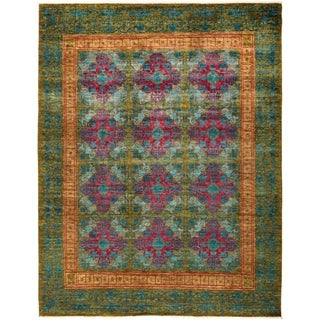 "Suzani, Hand Knotted Area Rug - 8' 4"" x 10' 6"" - 8'4"" x 10'6"""