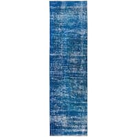 """Vintage, Hand Knotted Area Rug - 3' 1"""" x 11' 4"""" - 3' 1"""" x 11' 4"""""""