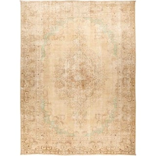"""Vintage, Hand Knotted Area Rug - 9' 7"""" x 12' 10"""" - 9' 7"""" x 12' 10"""""""