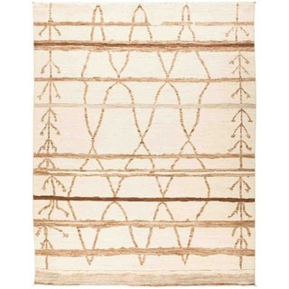"""Moroccan, Hand Knotted Area Rug - 8' 10"""" x 11' 6"""" - 8'10"""" x 11'6"""""""